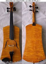 FINE OLD RARE SHAPED VIOLIN - see VIDEO - ANTIQUE MASTER バイオリン скрипка 小提琴 850