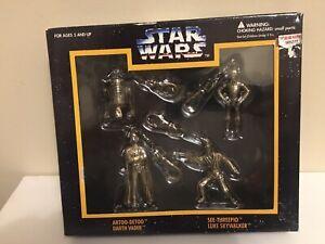 Star Wars Die-Cast Metal Keychain R2-D2, Darth Vader, Luke Skywalker, 3CP0 -NIB