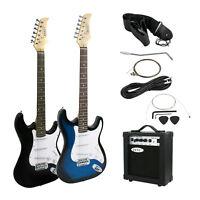 "30"" 39"" Full Size Electric Guitar +5w / 10w AMP+Strap+Cord+Gigbag NEW Beginner"