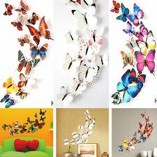 12Pcs 3D Butterfly Design Decal Art Wall Stickers Room Decorations Home Decor BF