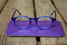Vintage Translucent Clear Blue Round Kids Childrens Glasses Frames