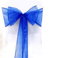 10/50/100PCS 6 Colors Organza Chair Sashes Bow Cover Wedding Party Banquet Decor