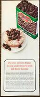 1963 Del Monte Raisins Print Ad OldTime Flavor New Style Desserts Raisin Volcano