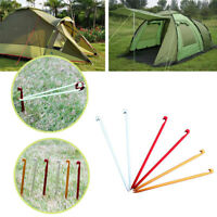 Aluminum Alloy Camping Tent Pegs Ultralight Square Nail Stakes Hook Pin Outdoor