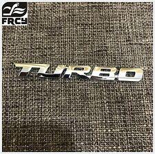 Adhesivo De Arranque Insignia Turbo Pegar En Coche Furgoneta Universal Emblema Adhesivo Metal Plata
