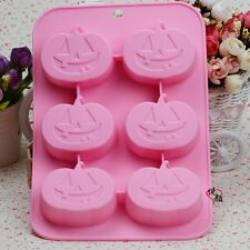 Pumpkin Smile Cake Mold Floral Flexible Silicone Mould For Candy Chocolate Soap