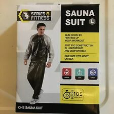 Series 8 Fitness SAUNA SUIT EXERCISE Workout LARGE one size fits most CARDIO new