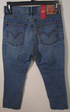 Womens Size 10 Levi's Mid Rise Light Blue Kick Flare Ankle Jeans 30 X 28