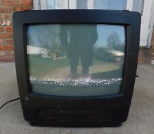 """Ge 13Tvr60 13"""" Tv Vhs Player Vcr Combo Crt Gaming Color Television Cctv Works"""