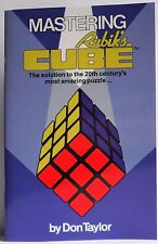 Mastering Rubiks Cube New Colour solution book by Don Taylor Puzzle Rubik's