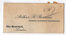 RARE 1910s ARTHUR BURROWS London Evening Standard BUSINESS CARD BBC Radio UNCLE