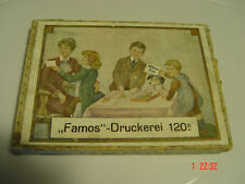 FAMOS DRUCKEREI Nr.120 b  DDR Spiel Stempel  Buchstaben / Namen