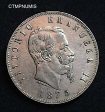 ITALIE 5 LIRE ARGENT 1875 M MILAN
