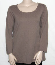 Pre-owned Liz Claiborne New York Essentials Long Sleeve Knit Tunic 2X/MOCHA