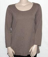 Pre-owned Liz Claiborne New York Essentials Long Sleeve Knit Tunic 2X/MOCHA