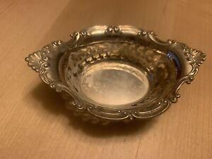Gorham Vintage Sterling Silver Nut Dish, Filigree Design, See notes