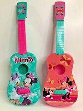New listing Disney Junior Minnie Mouse 23'' Pink Acoustic Guitar Music Toy Set of (2)
