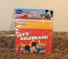 Disney Mickey Mouse Clubhouse Treat Loot Bags 8ct Party Celebrate New