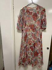 lk bennett Uk18 Garland Silk Dress
