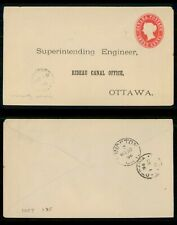 New ListingMayfairstamps Canada 1896 Washburn On Split Ring Qv stationery cover to Rideau C