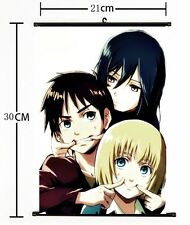 HOT Anime Attack on Titan Wall Poster Scroll Home Decor Cosplay 475
