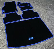 Negro/Azul Car Mats-VW Golf Mk7 RHD (2013 En) + + R-Line logotipos Azul Estera de arranque