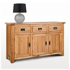 Large Solid Oak Sideboard | Rustic Light Oak Sideboard | Furniture CB04