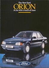 Ford Orion 1986 Original UK Sales Brochure Pub. No. FA 753