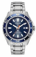 Citizen BN0191-55L Men's Eco-Drive Promaster Diver Blue Dial Stainless Watch