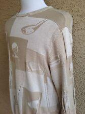 Awesome Cypress Links Golf Wear Men's XL Sweater Brown-Beige D74