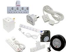 1/2/4/6/10 Way 2m/3m/5m/10m/25m, Extension Leads, Adaptors, Reels Electric