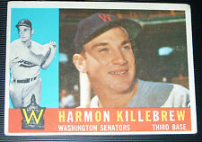 1960 Topps # 210 VG EX 54 yrs old HARMON KILLEBREW Senators Baseball Card !