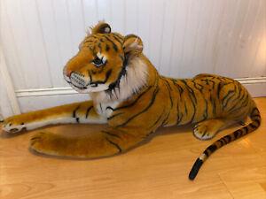 "❤️ Jumbo Giant 52"" plush stuffed Bengal Tiger Melissa and Doug"