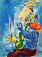 CHAGALL - SURREAL VERVE ORIGINAL LITHOGRAPH - 1938 - FREE SHIPPING IN US  !!!