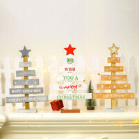 Wooden Mini Christmas Tree Style Desktop Ornaments Home Table Décor Party Decor