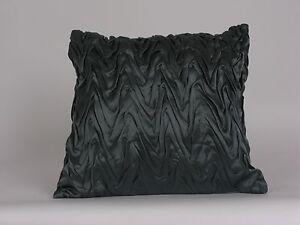 Donna Karan MODERN CLASSICS Chevron Smocked Silk Deco Pillow Peacock $188