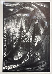 "Bernard Brussel-Smith -""Stonington Harbor, Detail 3"" 1961, (15.21x10.25)"