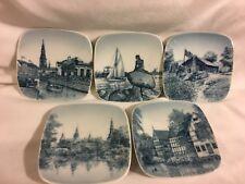Royal Copenhagen Porcelain Set Of 5 Collectible Plates. Denmark