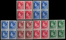 GREAT BRITAIN Morocco Agencies Stamps 1936, Lot blocks of 4. (BI#36)