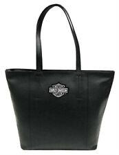 Harley-Davidson® Women's Bar & Shield Travel Leather Black Tote Bag  99516-BLACK
