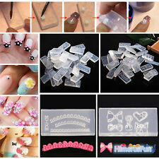 New 3D UV GEL Acrylic Powder Silicone Nail Art Tips Mould Set DIY Nail Design