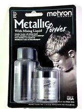 Mehron SILVER Metallic Powder with Mixing Liquid Stage /Halloween Makeup FX