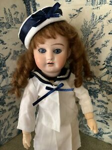 Sailor Skirt, Shirt, Shoes and HAT for BLEUETTE Antique Doll Reproductions. All