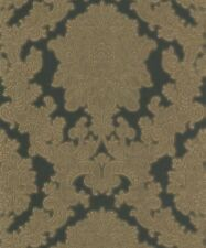 4x Rolls Arthouse Vicenza Black and Gold Damask Glitter Vinyl Wallpaper