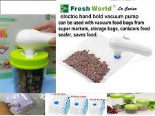 Vacuum  Food Sealer Saver Electric hand held Pump Kitchen portable +5 free bags