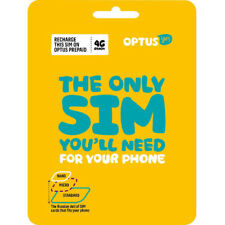 New Australian Optus Prepaid Mobile Sim Card 3G 4G Lte Cell Phone Nano Micro Kit
