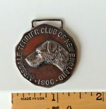 1921 Sterling Silver Airedale Terrier Club Of New England Dog Show Medallion!