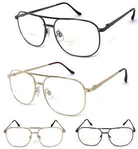 1 or 2 Pairs Metal Frame Pilot Bifocal Reading Glasses Large Bifocal Section