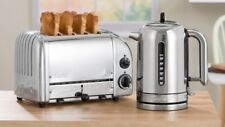 DUALIT CLASSIC POLISHED STAINLESS KETTLE TOASTER 2 X CAGES COMBO   IN HEIDELBERG