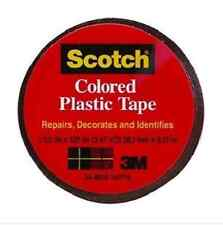 "Scotch BLACK Colored Plastic Tape 1-1/2"" X 125"" model 191BLK"